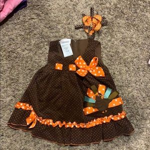 Thanksgiving holiday dress size 12 m Bonnie Baby